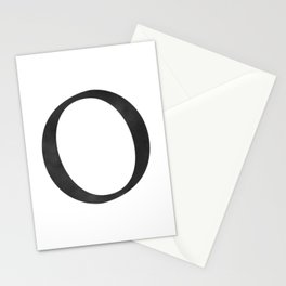 Letter O Initial Monogram Black and White Stationery Cards