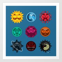 astrology Art Prints featuring Astrology by Karthik