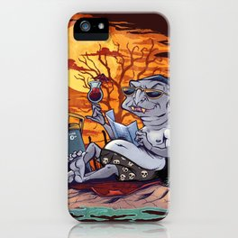 Vampire At The Beach  iPhone Case