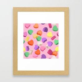 Valentine's Day Candy Framed Art Print