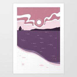 Sunrise at the Beach Art Print