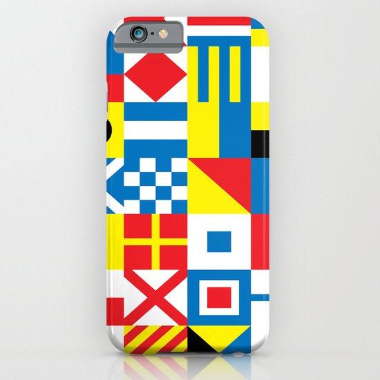 International Alphabetical Marine Signal Flags iPhone & iPod Case
