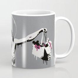 Banksy Jesus Christ with Shopping Bags Artwork Reproduction for Prints Posters Tshirts Men Women Kid Coffee Mug