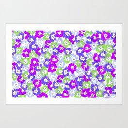 Morning Glory - Violet Multi Art Print