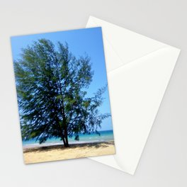 Tree On Seaside Stationery Cards