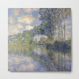 1891-Claude Monet-Poplars on the Epte-81 x 81 Metal Print