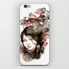 Metamorphosis of a fading memory iPhone Skin