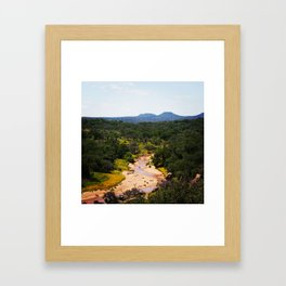 Volcano In The Distance Framed Art Print