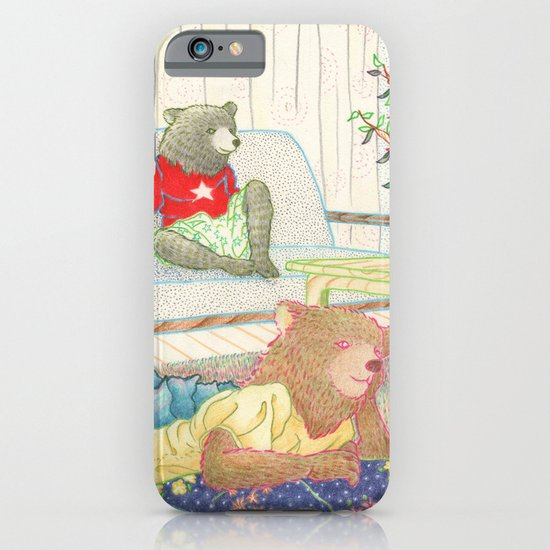 Everyday Animals- Little Bears lounge around iPhone & iPod Case