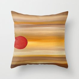 Acrylic Abstract Painting Sunny Day Throw Pillow