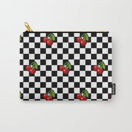 Checkered Cherries Carry-All Pouch