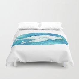 Cute Beluga whales Duvet Cover