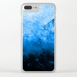 Cold blue stones Clear iPhone Case