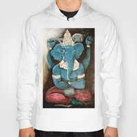 ganesh Hoodies featuring ganesh by Michael Anthony Alvarez