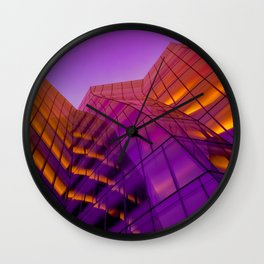 NYC architecture gradient 0489 Wall Clock