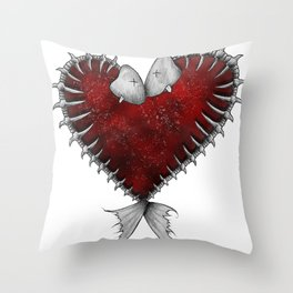 Heart - Fish Throw Pillow