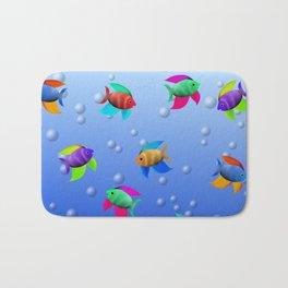 Bright Tropical Fish Bath Mat