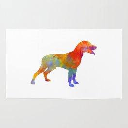 Save Valley Scentrhound in watercolor Rug