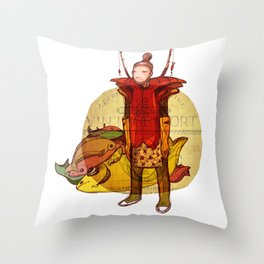 fisher muzh Throw Pillow