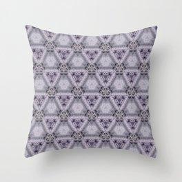 Pale Purple Pyramids Throw Pillow