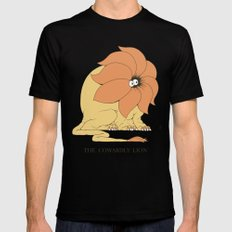 The Cowardly Lion Black SMALL Mens Fitted Tee