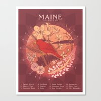 maine Canvas Prints featuring Maine by Lauren Rakes
