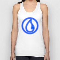 magic the gathering Tank Tops featuring Magic the Gathering, Neon Blue Mana by Thorn Blackstar