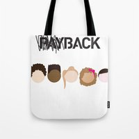 community Tote Bags featuring Community Blowback by The Kid