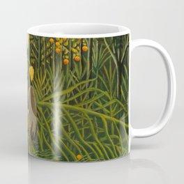 "Henri Rousseau ""Tropical Forest: Battling Tiger and Buffalo"", 1908 Coffee Mug"