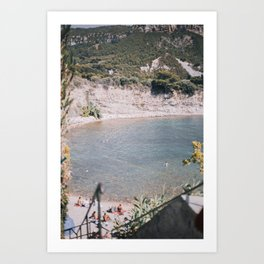 Swimming in Cassis, France Art Print