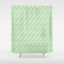 Hexagon Geometric Pattern Shower Curtain