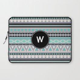 Monogram Tribal Pattern *W* Laptop Sleeve