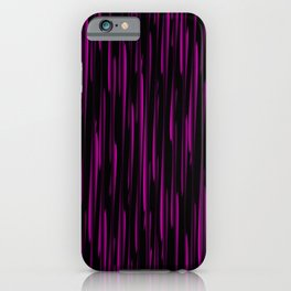 Vertical cross pink lines on a dark tree. iPhone Case