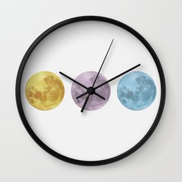 Moon Pop Wall Clock