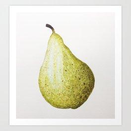 Watercolour Painting of a Juicy Pear Art Print