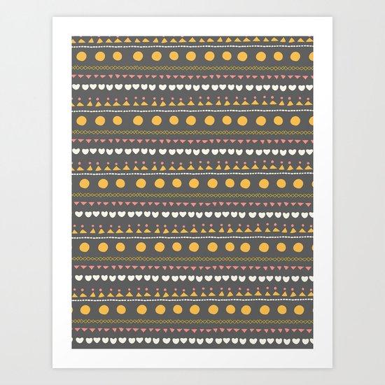Thankful Rows Art Print