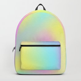Holographic Iridescence Trendy Multi colored Vibrant Pattern  Backpack
