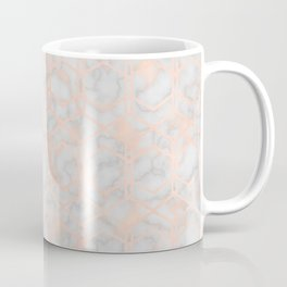 Geometric rose gold art deco on smokey marble Coffee Mug