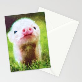 CUTE LITTLE BABY PIG PIGLET Stationery Cards