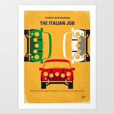 No279 My The Italian Job minimal movie poster Art Print