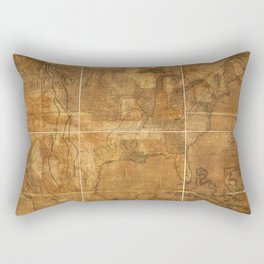 Map of the United States of America (1822) Rectangular Pillow
