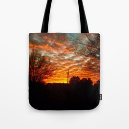 Pretty Florida Fiery Sunset Tote Bag