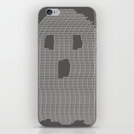 Ghost Typography iPhone Skin