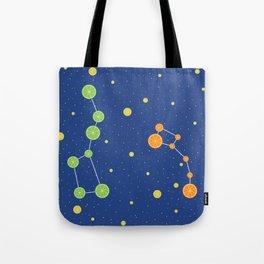 Citrus constellations Tote Bag