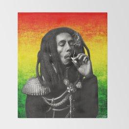 marley bob general portrait painting | Up In Smoke Fan Art Throw Blanket