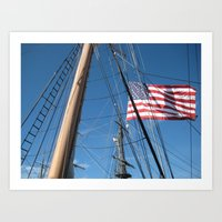 flag Art Prints featuring Flag by courtney2k ⚓ design™