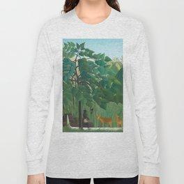 "Henri Rousseau ""The Waterfall"", 1910 Long Sleeve T-shirt"