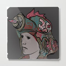 Techno Viking Warrior 288. Metal Print