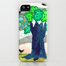 Blue trees iPhone Case