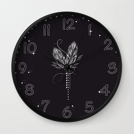 White feathers Wall Clock